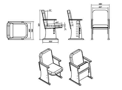 Схема механизма кресла